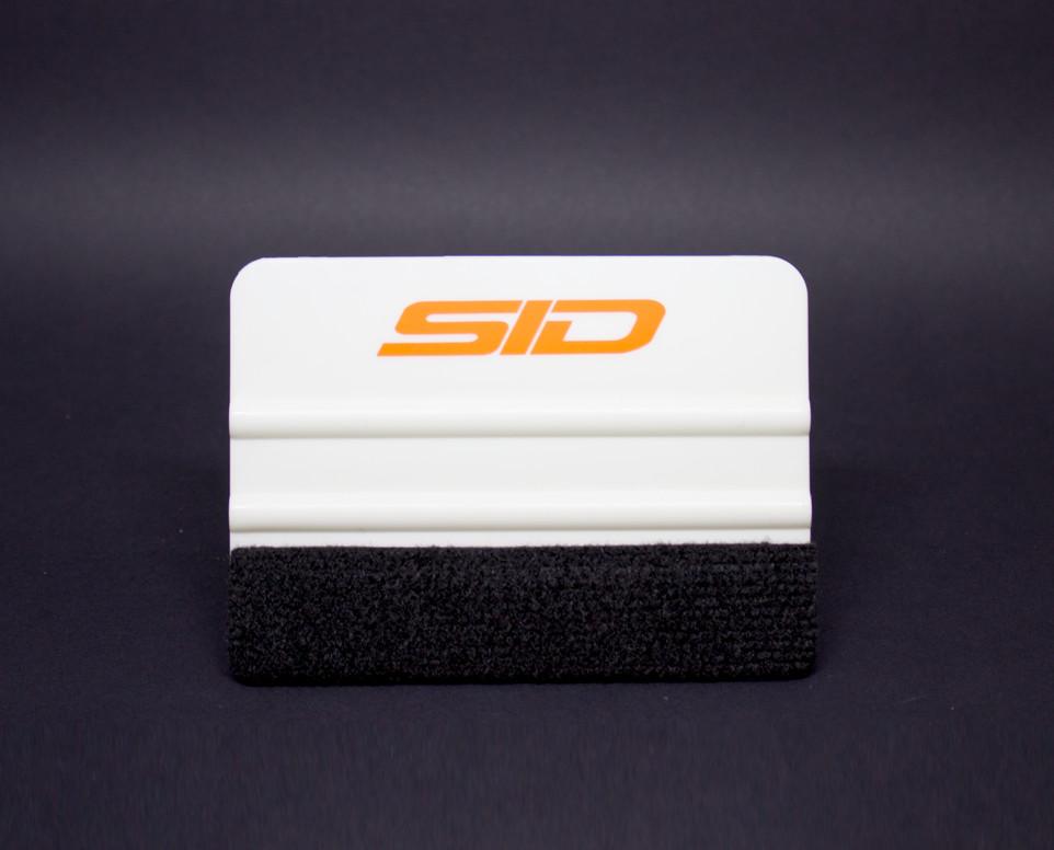 Espátula plástica macia White com feltro de proteção SID