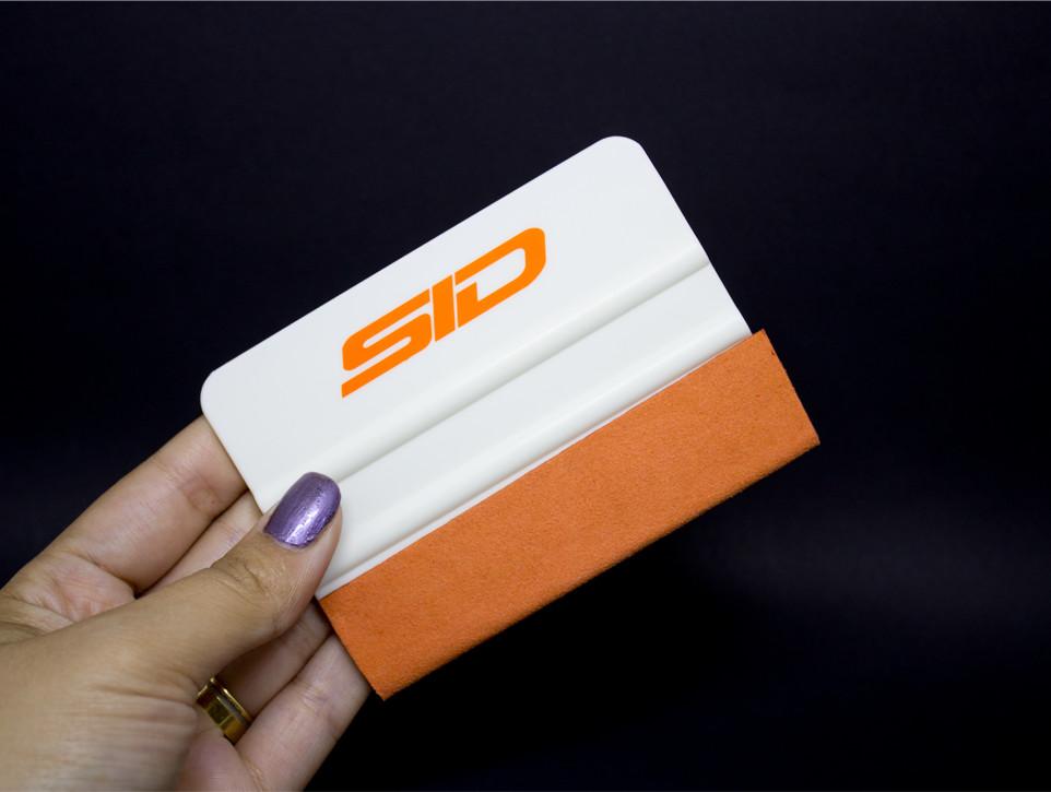 Espátula plástica macia White com suede de proteção SID
