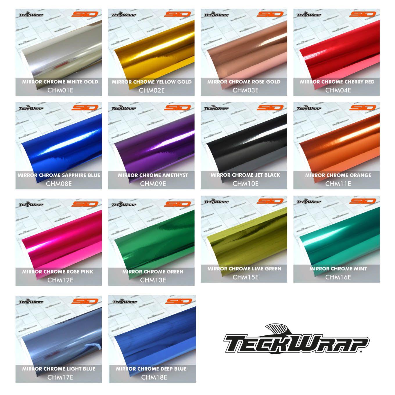 Vinil TeckWrap - Mirror Chrome - Metro Linear