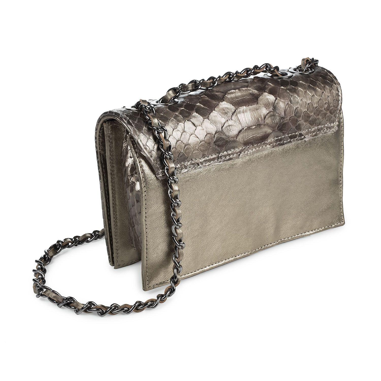 Bolsa Thais prata velha