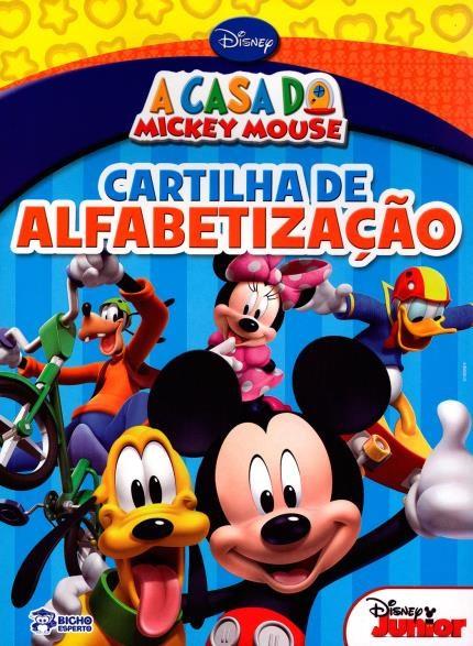 A Casa do Mickey Mouse - Cartilha de Alfabetização   - Gutana Brinquedos