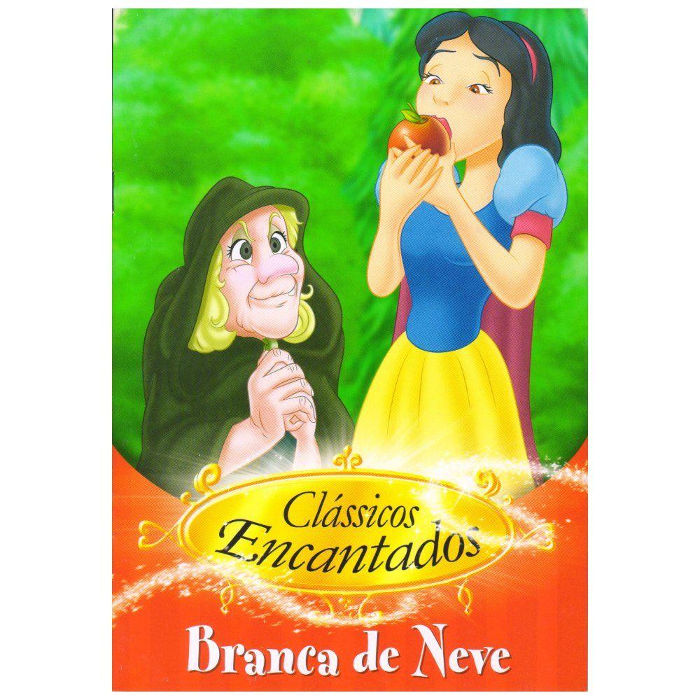 Coleção 8 Livros Clássicos Encantados Branca Neve Peter Pan  - Gutana Brinquedos