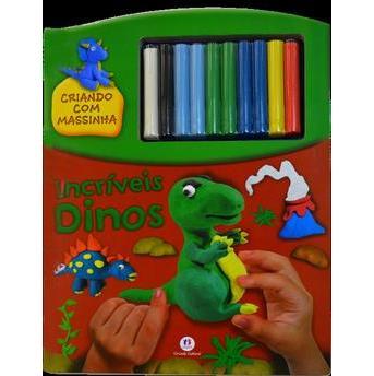 Criando Com Massinha: Incríveis Dinos   - Gutana Brinquedos