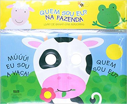 Livro De Banho Com Mascaras - Na Fazenda  - Gutana Brinquedos