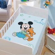 Manta Microfibra Disney Mickey Azul Jolitex