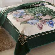 Cobertor Microfibra King Size Kyor Plus Toulon Verde Jolitex