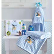 Manta Microfibra Bordada Disney Baby Mickey Azul Jolitex