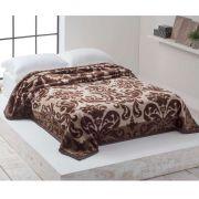 Cobertor Microfibra Casal Home Design Cinta Amy Marrom Corttex