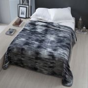 Cobertor Microfibra Casal Home Design Cinta Baltraz Chumbo Corttex