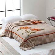 Cobertor Microfibra Casal Home Design na Cinta Belíssima Bege Corttex