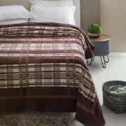 Cobertor Microfibra Casal Kyor Plus Arezzo Marrom Jolitex