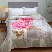Cobertor Microfibra Casal Kyor Plus Candela Cinza Jolitex