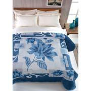 Cobertor Microfibra Casal Kyor Plus Malbec Azul Jolitex