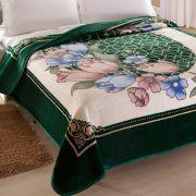 Cobertor Microfibra Casal Kyor Plus Toulon Verde Jolitex