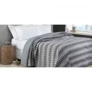Colcha Casal 1,80 x 2,20m Comfort Home Design Dream Cinza Corttex