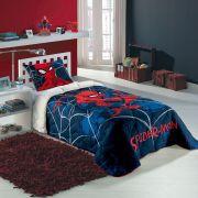 Edredom Solteiro 100% Algodao Homem-Aranha Spider Man 1 peça Lepper