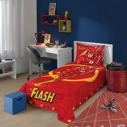 Jogo de Cama 2 peças Solteiro Liga da Justiça The Flash Lepper