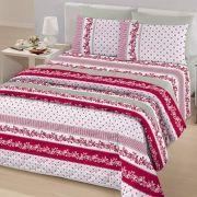 Jogo de Cama Casal Queen Size Royal Plus 100% algodão 4 peças England Vermelho Santista