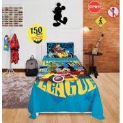 Jogo De Cama Solteiro 150 fios 2 peças Disney Mickey Aventuras sobre Rodas Lepper