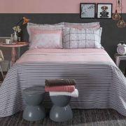 Jogo de Cama Solteiro Home Design 100% algodão 3 peças Mya Rosa Santista
