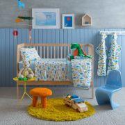 Jogo de Lençol de Berço Linha Baby 100% algodão 3 Peças Dino Santista