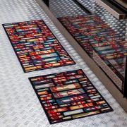 Jogo de tapetes para Cozinha Bistrô Color Art 2 peças Requinte Azul Corttex