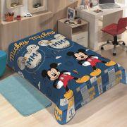 Manta Microfibra Soft Solteiro Disney Mickey Mouse  Azul Jolitex