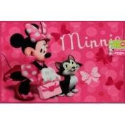 Tapete Infantil Disney  Minnie 100% Poliéster 70x50 Corttex