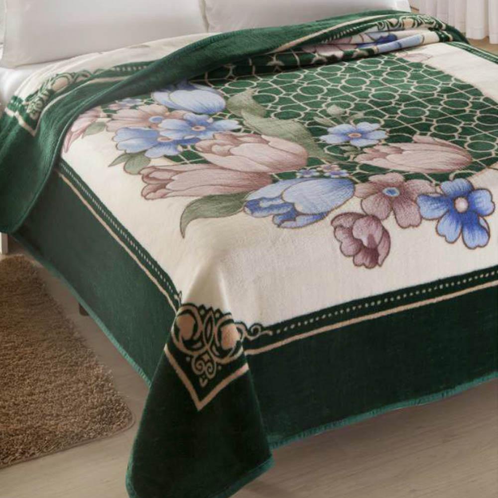 Cobertor Microfibra Casal King Size Kyor Plus Toulon Verde Jolitex