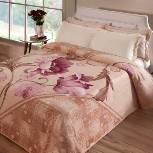 Cobertor Microfibra Casal Kyor Plus MonteCarlo Creme Jolitex