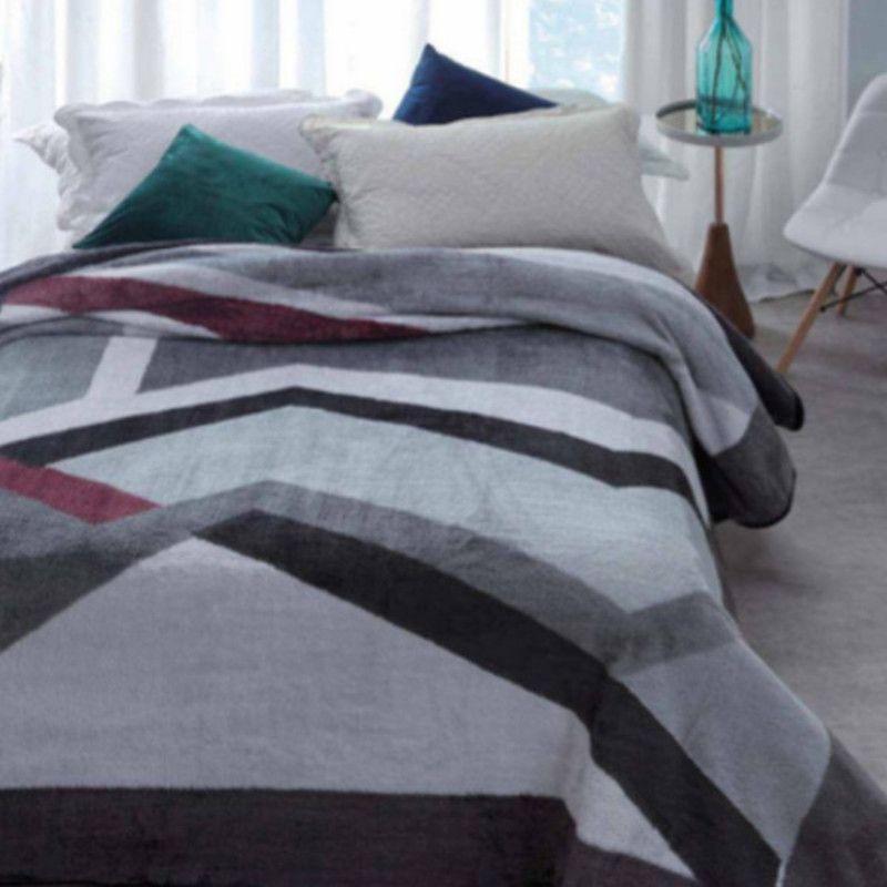 Cobertor Microfibra Soft Casal Kyor Plus Amalfi Cinza Jolitex