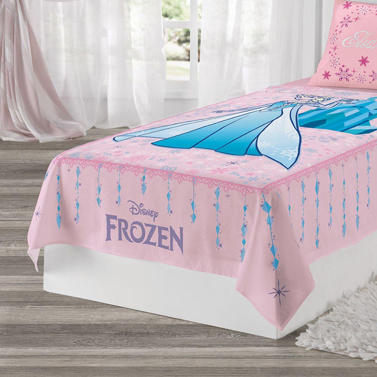 3c219178ce Jogo de Cama 2 peças Estampado Frozen Rosa Lepper da LEPPER - Se ...