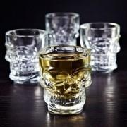Kit com 4 copos shot crânio