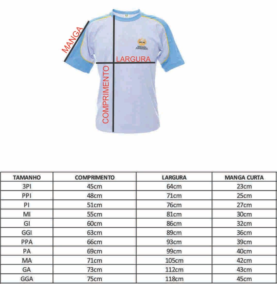 Camiseta Manga Curta - GI ( 14-36 )
