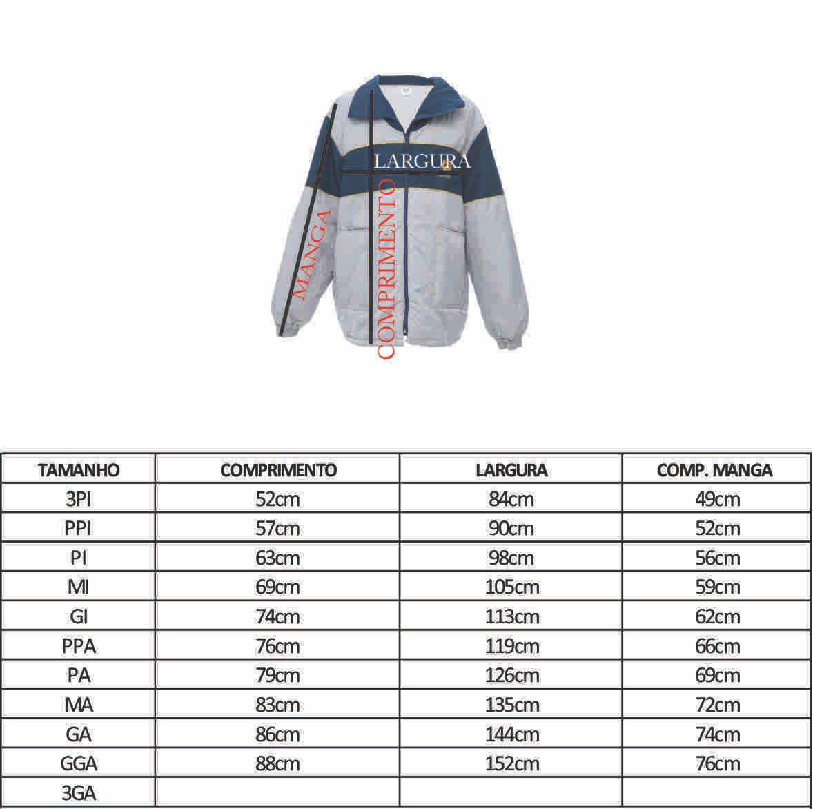Blusão de Nylon - MI ( 10-12 )