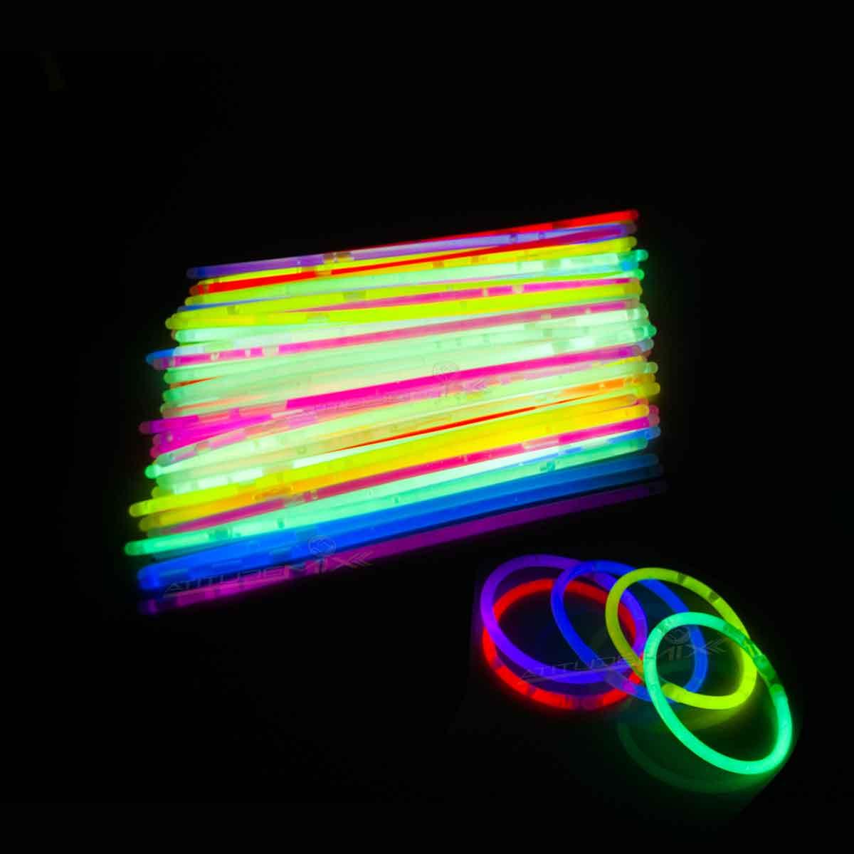 Tubo Pulseiras Neon 100 Unidades Festa Aniversário Casamento