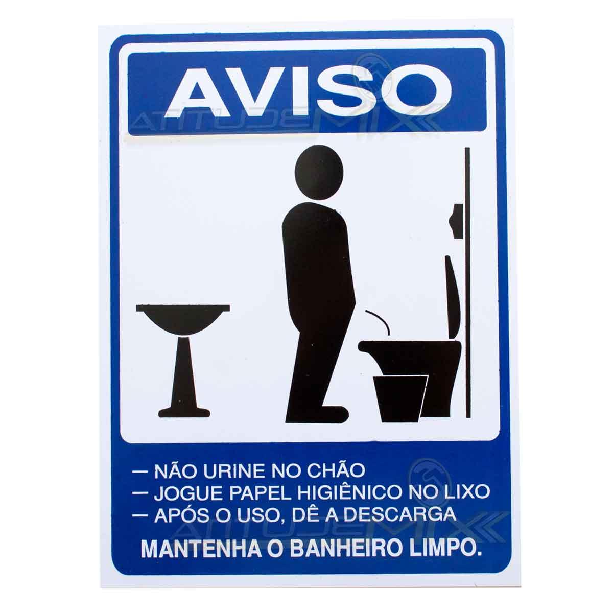 Placa Aviso Advertência Banheiro Masculino -> Aviso De Banheiro Feminino Para Imprimir
