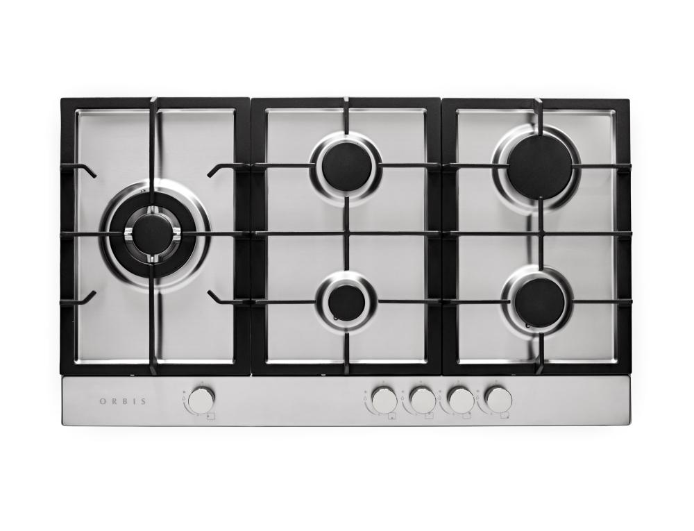 Cooktop à gás Orbis 5 queimadores 90cm em aço inox - Bivolt