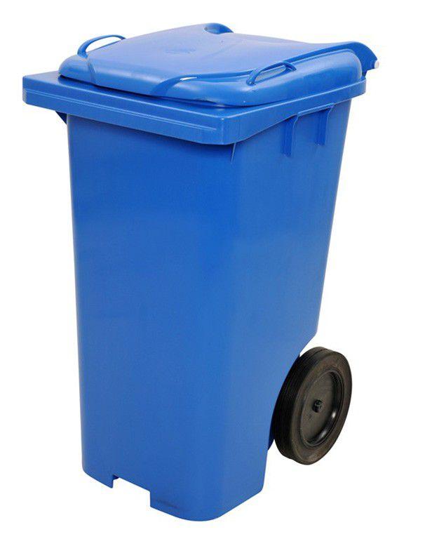 Contentor De Lixo Em Plástico de 240 L Com Rodas 300 mm