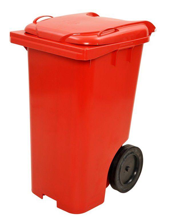 Contentor De Lixo Em Plástico Com Rodas 240 Litros C240