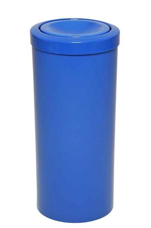 Lixeira com Tampa Meia Esfera Plastica 50 cm Capacidade 22 Litros