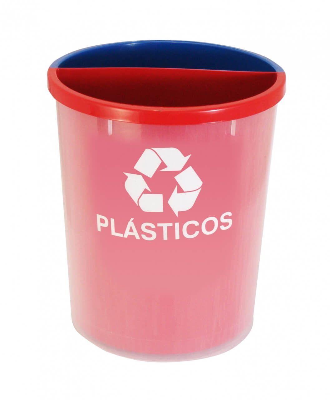 Lixeira para Coleta Seletiva em Plástico com 2 Divisórias Plastica