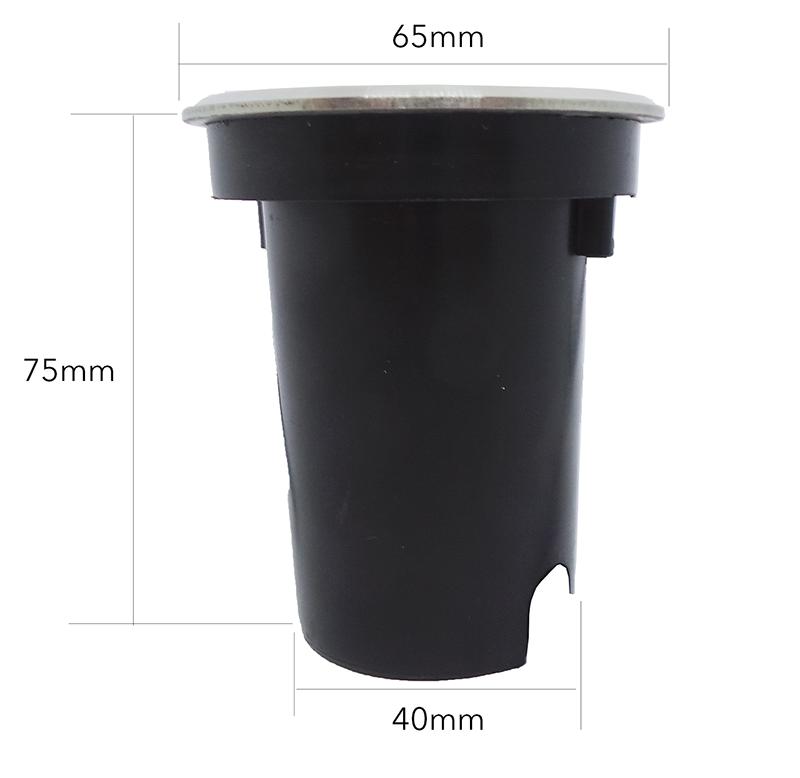 Balizador LED COB Piso Solo 3W - Embutir