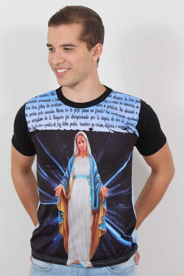 527eba00df7e Camiseta Nossa Senhora das Graças Maria - Camisetas Templo Vivo