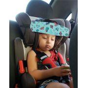 Faixa soninho segura a cabeça do bebê durante a viagem