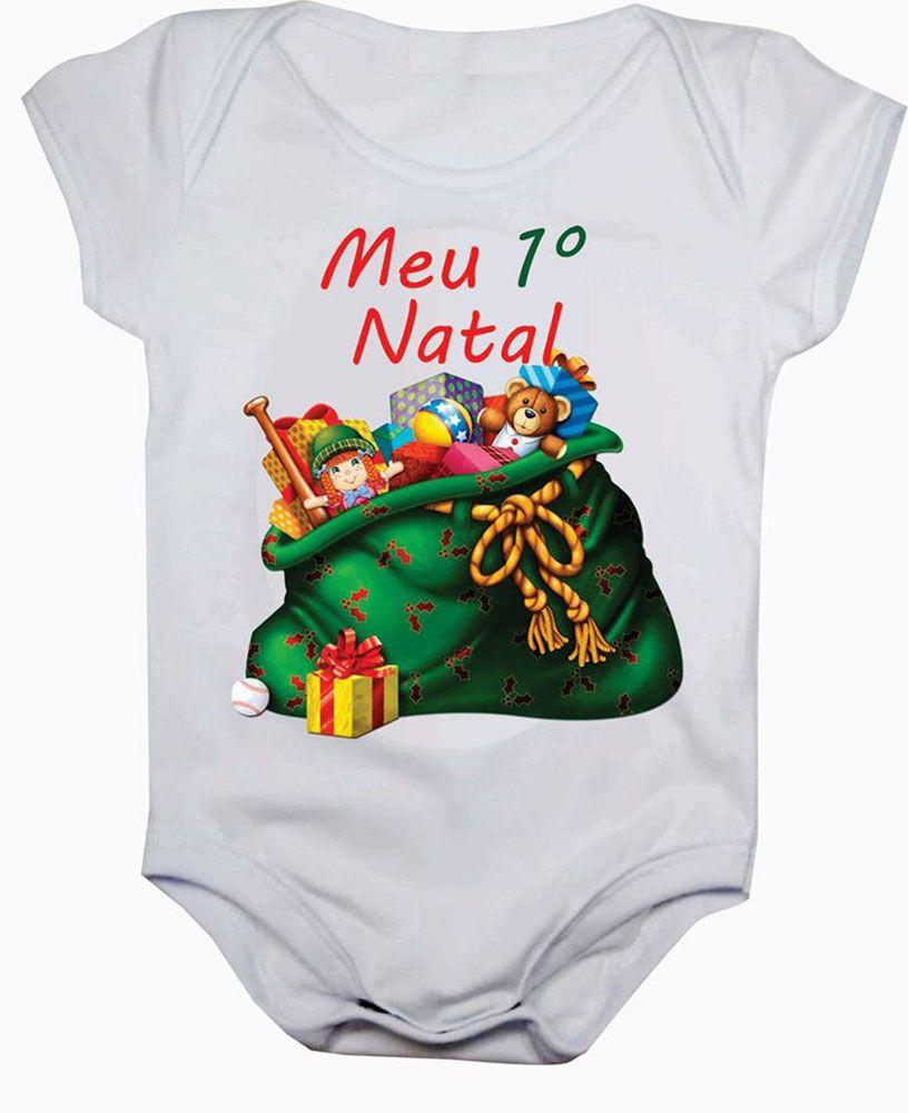 Body de Bebê Meu Primeiro Natal Presentes
