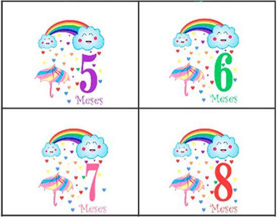 Body mesversario chuva de benção Kit 12 bodies de bebê