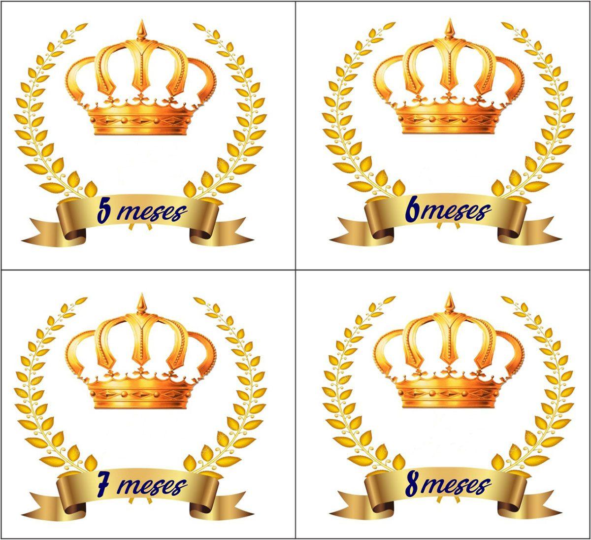 Body mesversario coroa príncipe kit 12 bodies