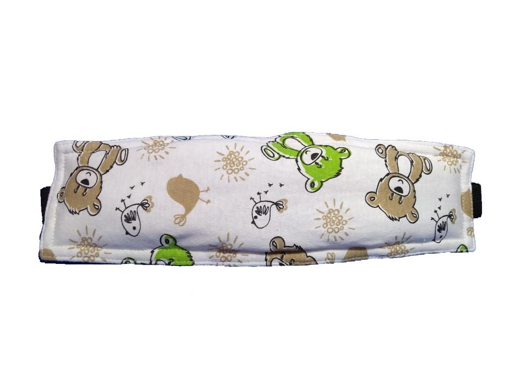 Faixa soninho apoia a cabeça do bebê na cadeirinha estampa urso