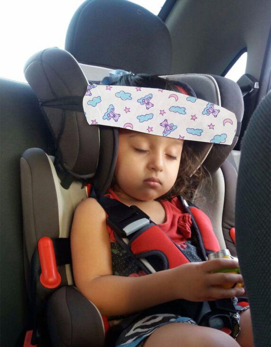 Faixa soninho apoio de cabeça que prende na cadeirinha